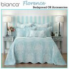 Florence Blue Bedspread / Coverlet + P/case(s) OR Accessories by Bianca 5 Sizes image