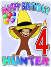Personalized CURIOUS GEORGE BIRTHDAY T-SHIRT Any Name/Age Toddler to Adult