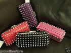 New Designer Inspired Studded Clutch Evening Party Bag Purse With Shoulder Chain