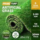 5-60 SQM Roll Synthetic Turf Artificial Grass Plastic Plant Lawn Flooring 30mm