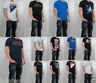NWT AX Armani Exchange Men V Neck Slim Fit Overlapping logo pride Tee T Shirt