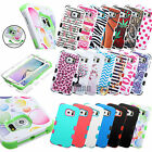For Samsung Galaxy S6/S6 Edge Hybrid Tuff Rubber Protective Hard Case Cover