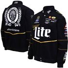 Mens Black Brad Keselowski Miller Lite Uniform Twill Jacket