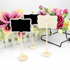New Mini Blackboard Chalkboard Wooden Clip Home Wedding Party Table Holder Card