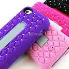 For Apple iPhone 5C Impact Hybrid Spot Diamond Hard Case Cover w/Stand Accessory