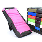 For Apple iPhone 5S 5 Rugged Hybrid Hard Case Cover Belt Clip Holster Kickstand
