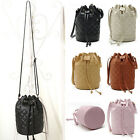 Women Leather Quilted Handbag Bucket Shoulder Messenger Bag Tote Satchel Special