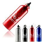 Sports 750ml Aluminum Alloy Cycling Bicycle Bike Water Bottle Carabiner Clip New