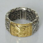 Konstantino Ring Sz 12 Men's Etched Band 18K Gold Sterling Silver New