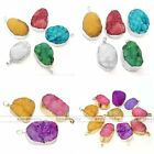 1pc Natural Druzy Rock Crystal Quartz Clusters Crystal Pendant Fit Necklace Gift