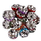 100 Acrylic Silver Plated Spacer Loose Wave Beads Charms Jewellery Findings 8mm