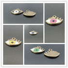 40PCS Fashion Vintage Alloy Colored Drawing Eye Necklace Pendant Charms Jewelry