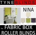 The FABRIC BOX - NINA made to measure ROLLER BLINDS - straight edge patterned