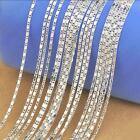"""1PCS 16-30""""Wholesale jewelry Lot 925 Silver SMOOTH Chain Necklace For Pendant"""