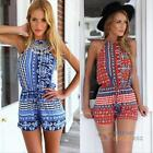 Sexy Women Celeb Floral Playsuit Jumpsuit Summer Lady Beach Dress Shorts Rompers