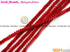 "Pretty Red Coral DIY Jewelry Making Beads Strand 15"",4x8mm"