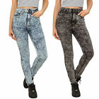 Urban Classics Damen Ladies High Waist Denim Skinny Pants Jeans Hose TB956