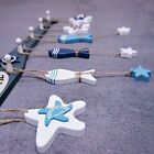 Nautical Wooden Fish Starfish Wall Hanging Ornaments Home Door Decor Hanger Gift