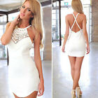 Sexy Women Summer Casual Bandage Bodycon Party Evening Cocktail Short Mini Dress
