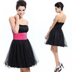 Strapless Padded Rhinestones Short Tulle Skirt Homecoming Party Dress 03214