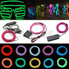 1/2/3/4/5M 10 color Flexible EL Wire Neon Glow Dance Light 3/12V Controller Xmas
