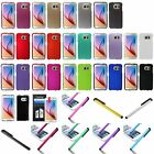 For Samsung Galaxy S6 SM-G920 Hard Ultra Thin Slim Phone Case Cover+Stylus+Film