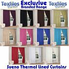 SUENO THERMAL BACKED LIGHT REDUCING READY MADE CURTAINS IN 11 COLOURS