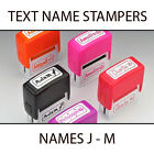KIDS TEXT PLASTIC NAME STAMPERS *SELECT A NAME J - M* BOXER GIFTS BRAND NEW