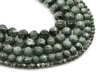 "Genuine natural green seraphinite round ball beads strand 15.5"" 4mm to 9mm"