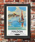 TU63 Vintage Maldon Essex British Railways Framed Travel Poster Picture A3/A4