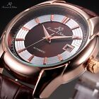 Ks Automatic Mechanical Mens 5 Colours Date Leather Strap Dress Wrap Wrist Watch