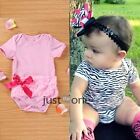 Lovely One-Piece Baby Girls Toddlers Bodysuit Romper Jumpsuit Short Sleeve Dress