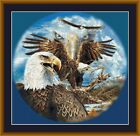 EAGLES - PDF/PRINTED X STITCH CHART 14/18 COUNT ARTWORK © STEVEN GARDNER