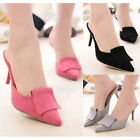 Fashion Leisure High Heels Pumps Sexy Pointy Toe Stilettos Summer Mules Shoe
