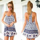 Bali Resort Elephant Tribal Prints Swing Sun Beach Mini Dress REVERSE Peppermayo