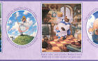 Childrens Nursery Rhymes Purple Pictures Wording Baby Wallpaper Border Wallcover