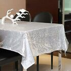 "Hot New 40x59"" Sparkly Sequin Glamorous Tablecloth For Wedding Party Event Table"
