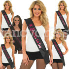 Adult Holographic Hen Night Black Pink Hen Party Girl Sash Present Gift Bride