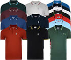 Mens Lambretta Logo Target Classic Short Sleeve Polo Tee T Shirts Sizes S to 4XL