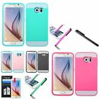 For Samsung Galaxy S6 / S6 Edge Pattern TUP Card Wallet Hard Cover Case+Pen+Film