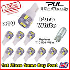 T10 501 W5W CAR SIDE LIGHT BULBS ERROR FREE CANBUS 6 SMD LED PURE HID WHITE