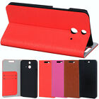 Simple business stylish PU Leather Stand Pouch Case Cover Skin For HTC One E8
