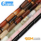 """6x16mm Assorted Stones Column Tube Beads For Jewelry Making Free Shipping 15"""""""