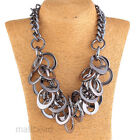 Fashion Hoop Circle Modern Charm Choker Statement Bib Chunky Necklace Gift