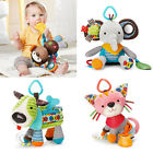 Cartoon Animal Toy Plush Baby Toy Kids Car Rattle Multicolor Bed Hanging Toy