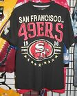 San Francisco 49ers Black Distressed T-Shirt - New - Free Shipping