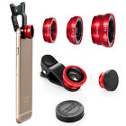 Universal 3in1 Fish Eye+Wide Angle+Macro Lens Camera Clip For iPhone/Samsung