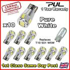 Canbus 6 SMD LED No Error Free HID White PURE Side Light Bulbs W5W T10 501