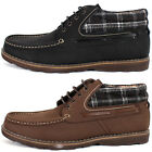 New Mooda Checked Point Casual Mens Leather Sneakers Ankle Boots Shoes