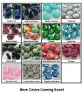 50 Top drilled 6mm Lentil Czech Glass Beads Choose Color New Colors Added!